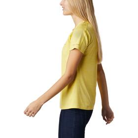Columbia Zero Rules Camiseta Manga Corta Mujer, amarillo